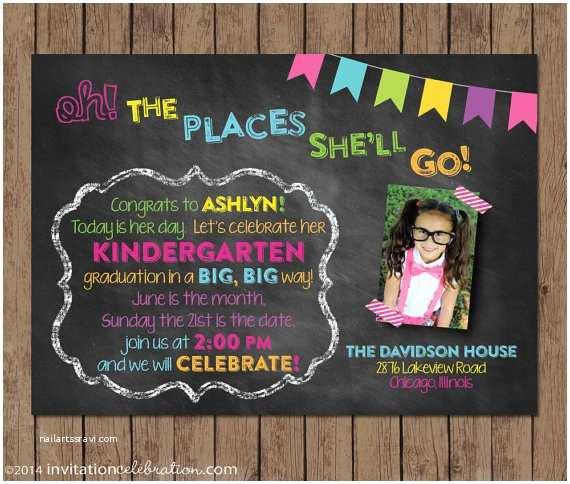 Preschool Graduation Invitations Dr Seuss Kindergarten Graduation Invitation Preschool