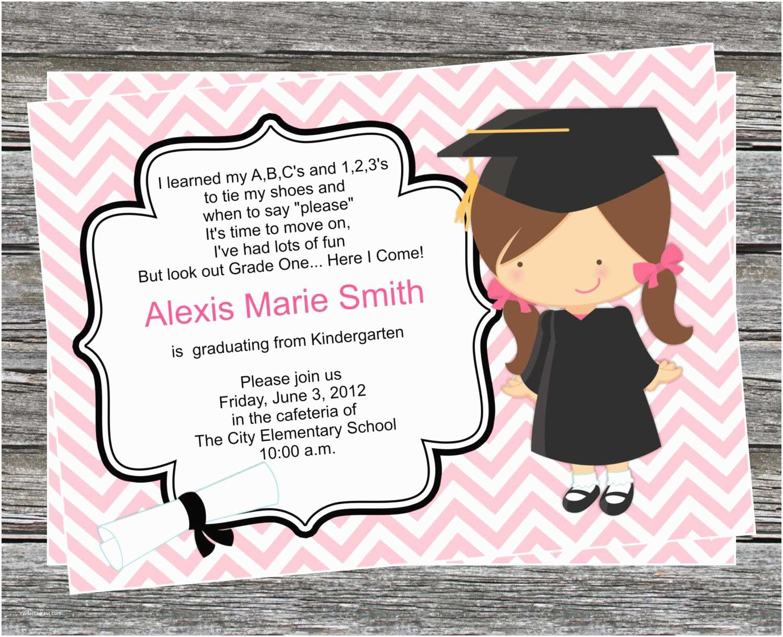 Preschool Graduation Invitations Pre K or Kindergarten Graduation Invitation Boy and Girl