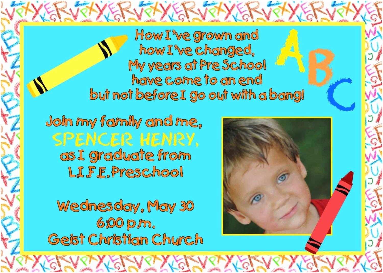 Preschool Graduation Invitations Preschool Graduation Invitations Templates