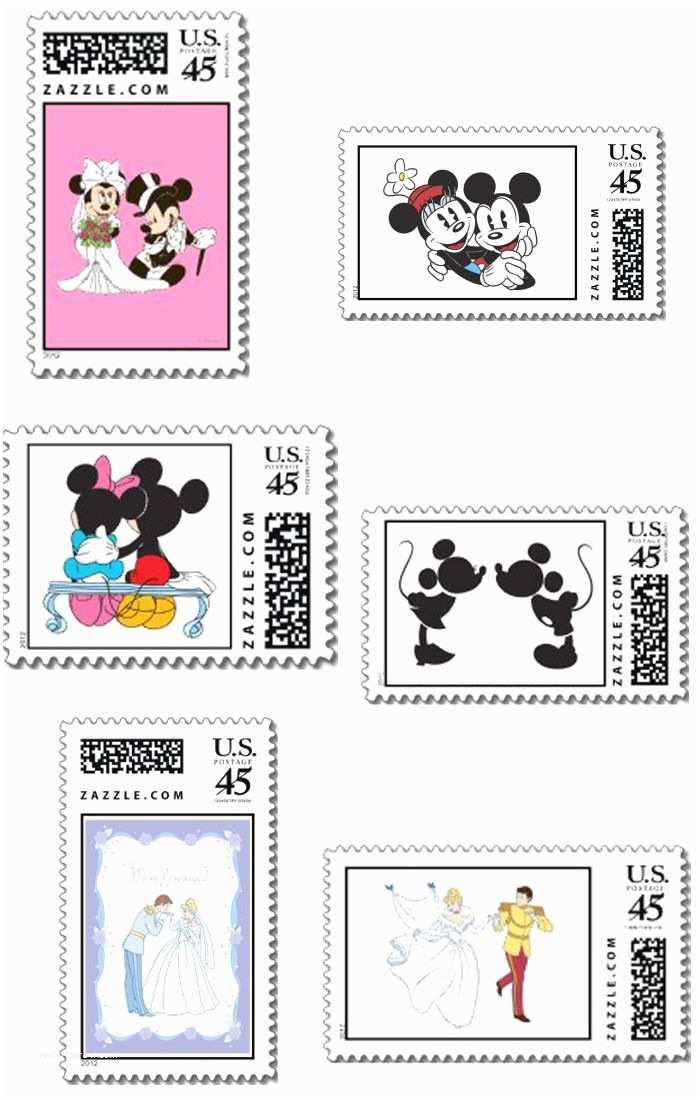 Pretty Stamps for Wedding Invitations Disney Stamps so Cute for Save the Dates Wedding