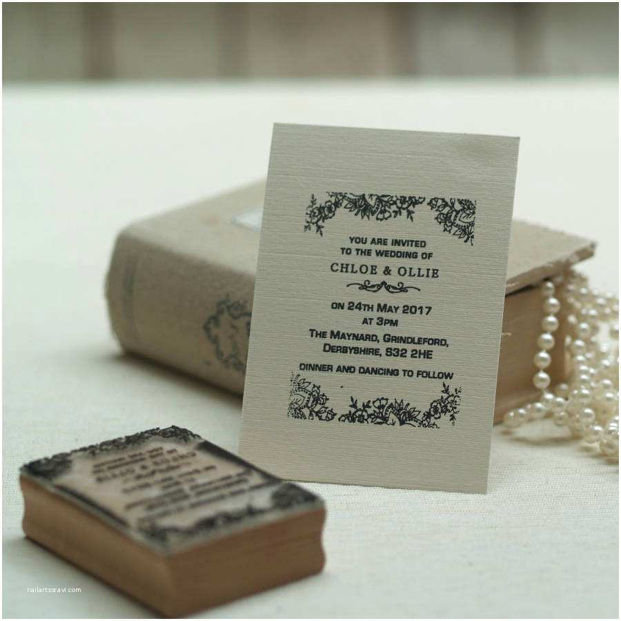Pretty Stamps for Wedding Invitations Personalised Wedding Invitation Stamp Lace Design by