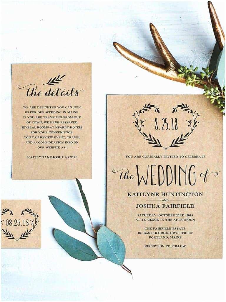 Pretty Wedding Invitations 15 Beautiful Rustic Diy Wedding Invitations Cute Wedding