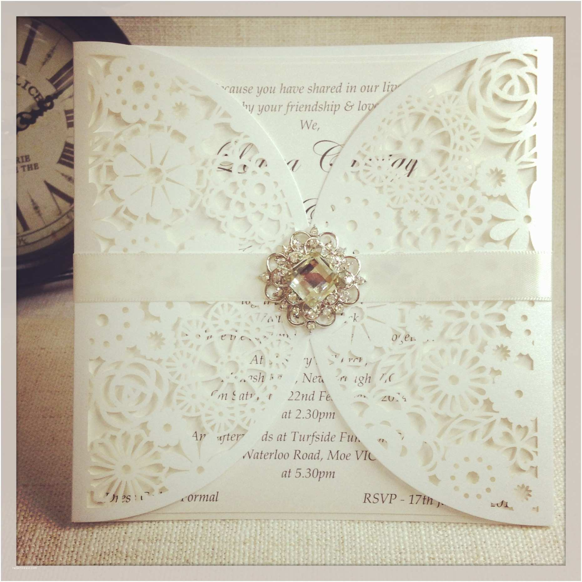 lace wedding invitations with beautiful design