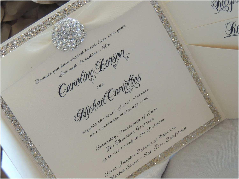 Pretty Wedding Invitations Mind Blowing Sparkle Wedding Invitations