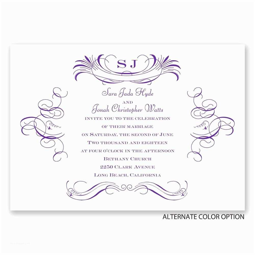 Pretty Wedding Invitations Pretty Swirls Invitation