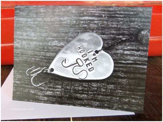 Primitive Wedding Invitations Fishing Birthday Card Fishing Greeting Cards I M Hooked