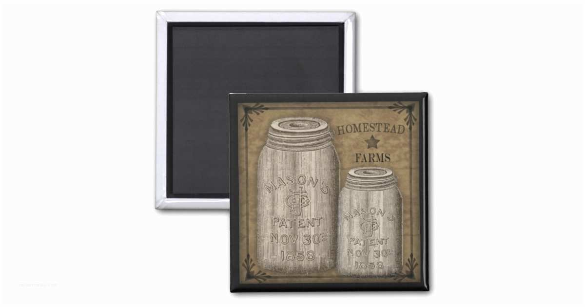 Primitive Wedding Invitations Homestead Primitive Canning Jar Magnet