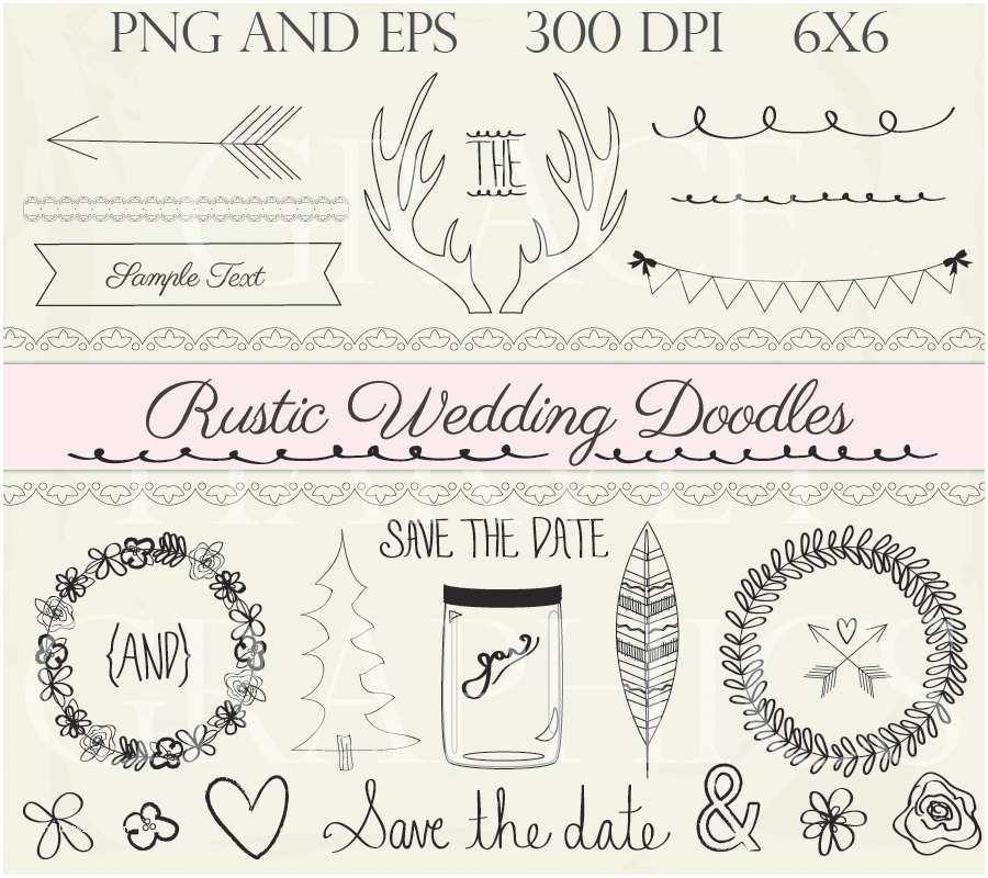 Primitive Wedding Invitations Rustic Cliparts