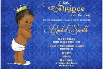 photograph relating to Free Printable African American Baby Shower Invitations identified as Prince Child Shower Invites African American Boy Little one