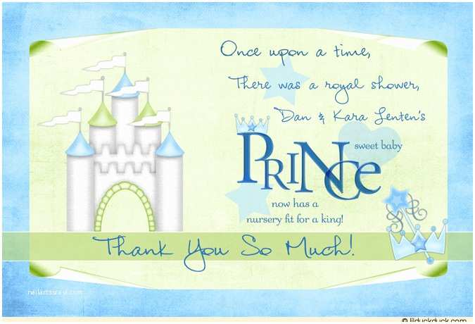 Prince Baby Shower Invitations Baby Prince Thank You Card Nursery King Shower Guests soft