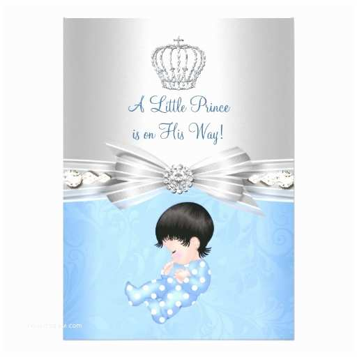 Prince Baby Shower Invitations Blue Little Prince Baby Shower Invitation