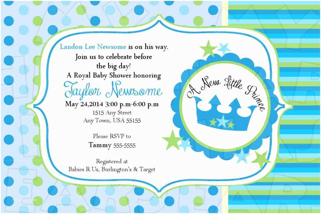 Prince Baby Shower Invitations Little Prince Baby Shower Invitations
