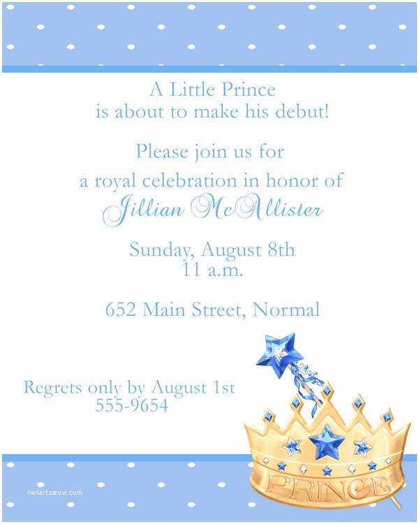 Prince Baby Shower Invitations Prince Baby Shower Invitations