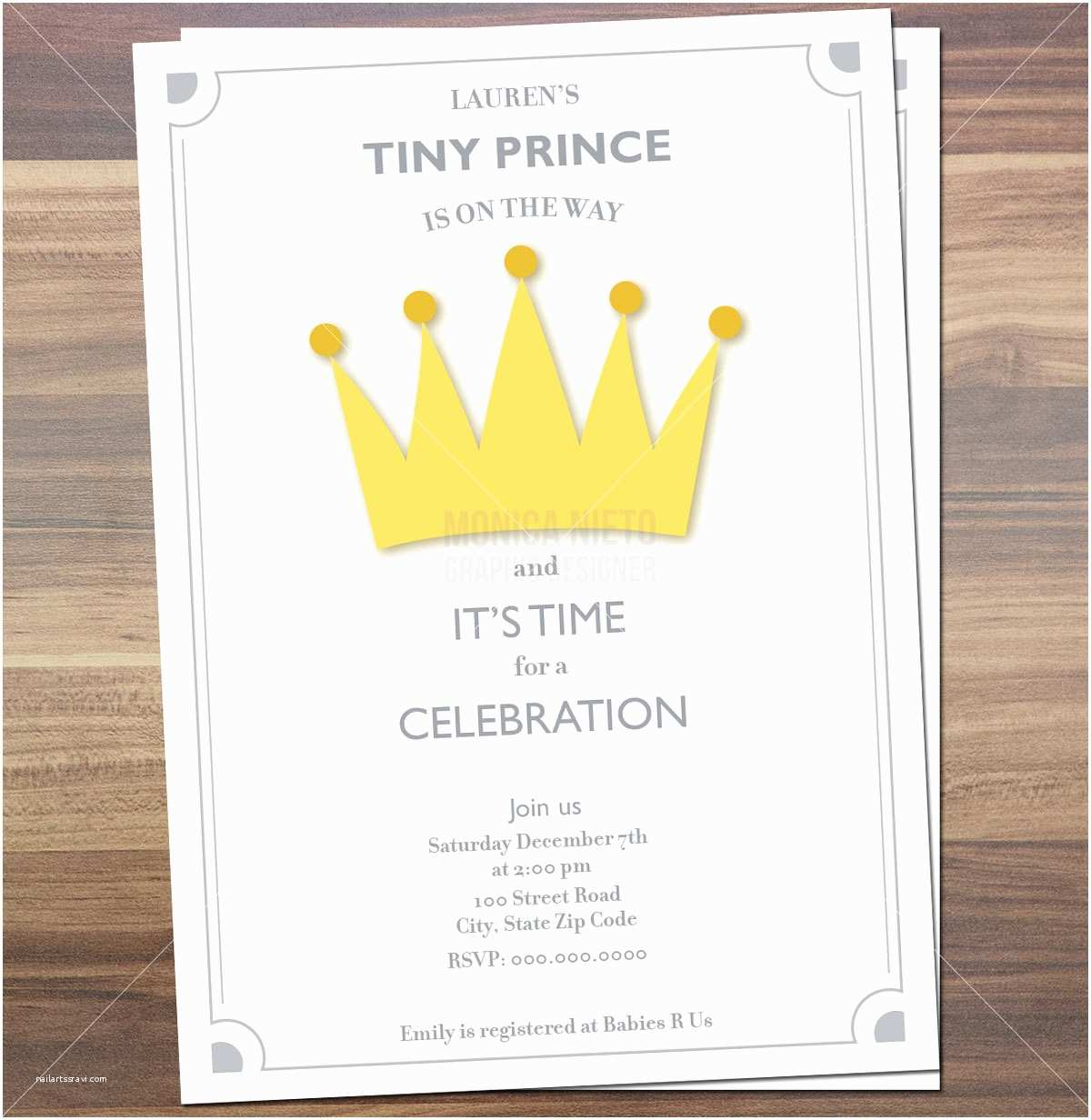 Prince Baby Shower Invitations Printable Royal Prince Baby Shower Invitation Little Prince