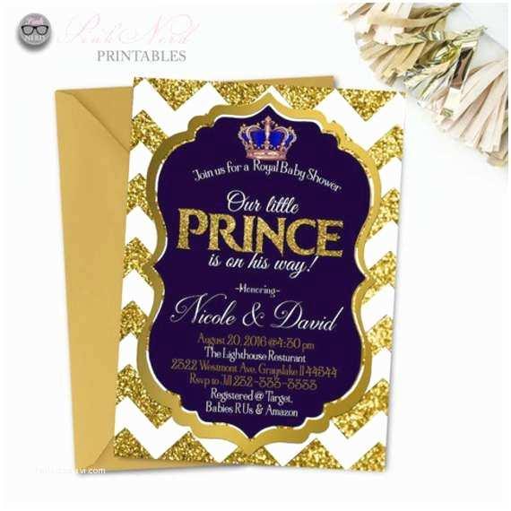 Prince Baby Shower Invitations Royal Prince Baby Shower Invitation Printable Royal Baby