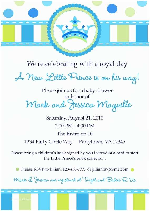 Prince themed Baby Shower Invitations Little Prince Baby Shower Invitation Digital by Inkberrycards