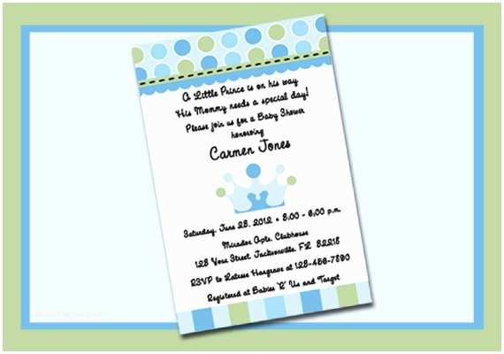 Prince themed Baby Shower Invitations Little Prince theme Personalized Digital Baby by