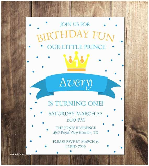 Prince themed Baby Shower Invitations Prince Birthday Party Invitation Prince theme Birthday