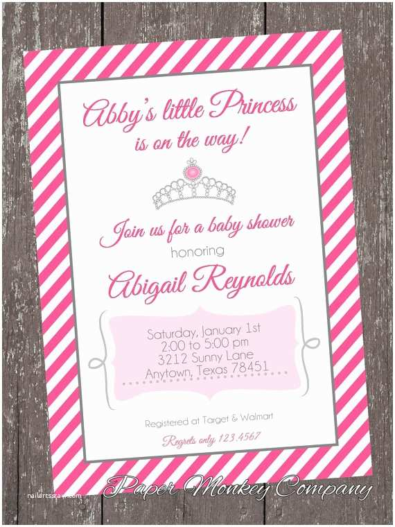 Princess Baby Shower Invitations Princess Baby Shower Invitations