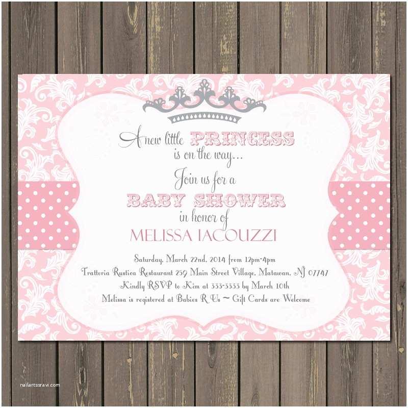 Princess Baby Shower Invitations Princess theme Baby Shower Invitations – Gangcraft