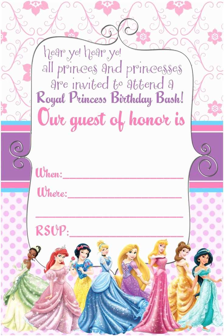 Princess Birthday Invitations 25 Best Ideas About Disney Princess Invitations On