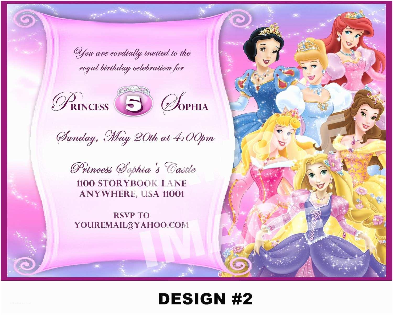Princess Birthday Invitations Disney Princess Birthday Invitation Rapunzel Tangled Belle