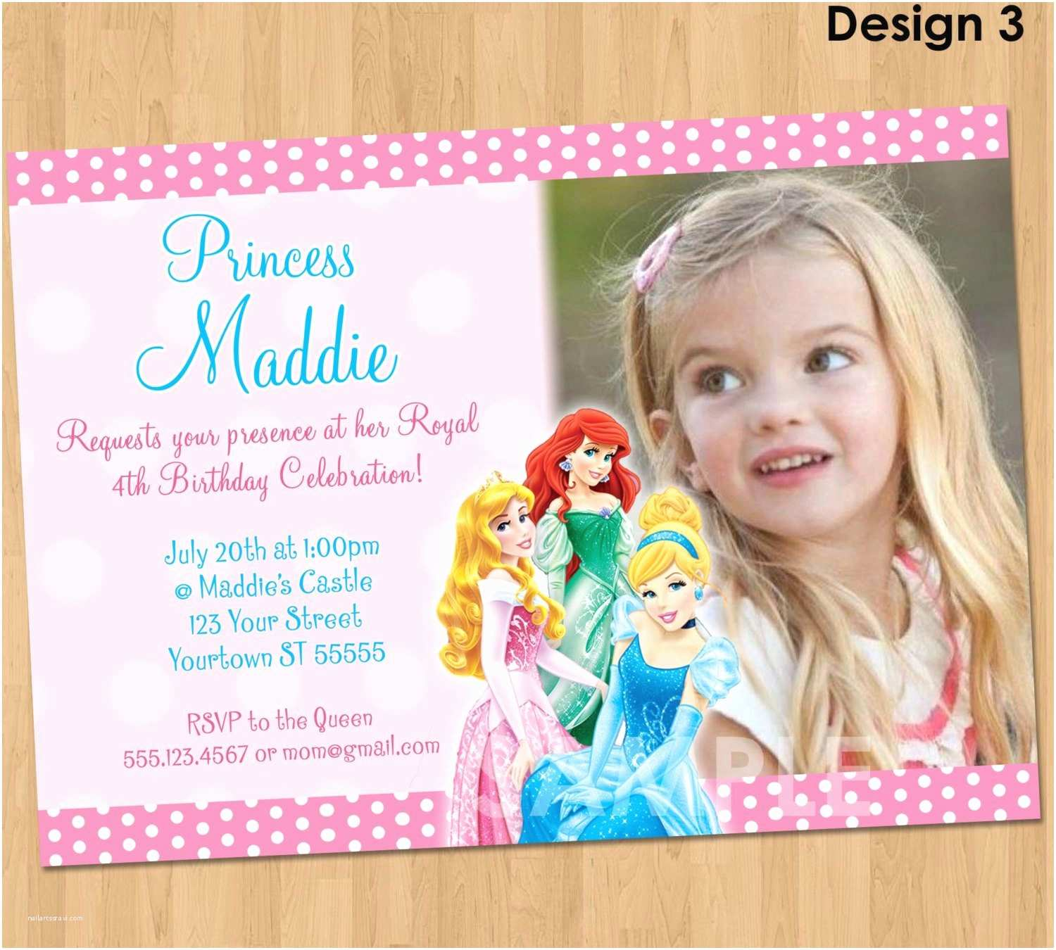 Princess Birthday Invitations Disney Princess Birthday Invitations – Gangcraft