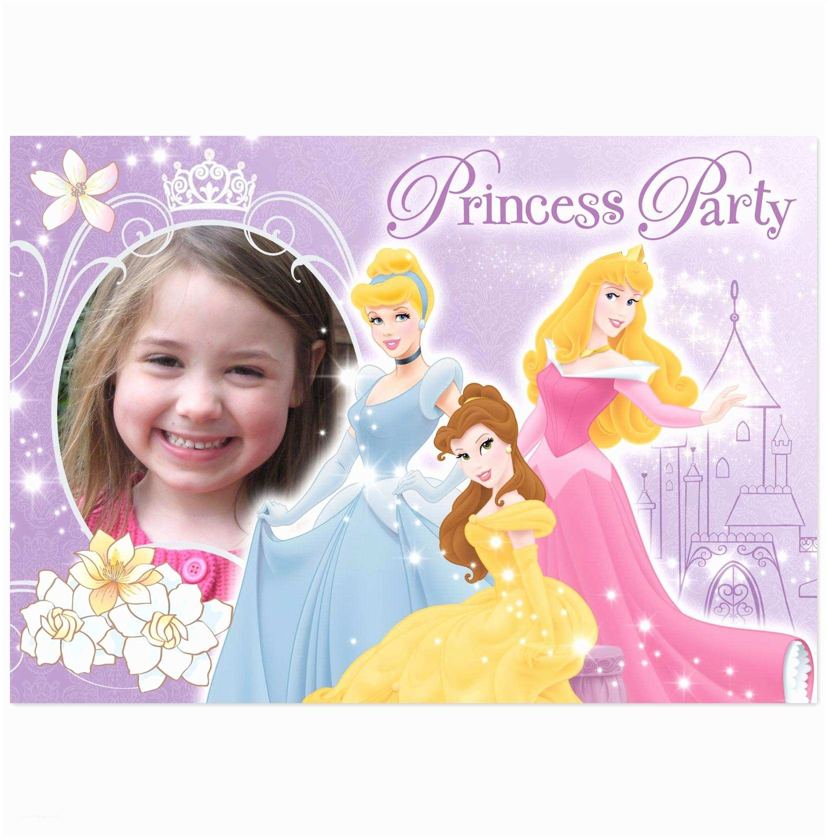 Princess Birthday Invitations Disney Princess Birthday Party Invitations