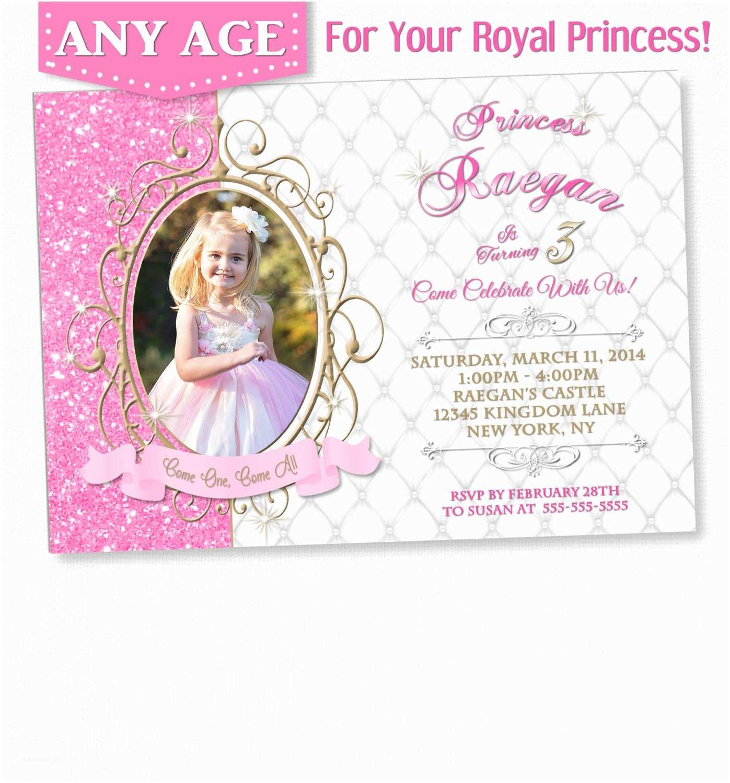 Princess Birthday Invitations Princess Invitation Princess Birthday Princess Birthday