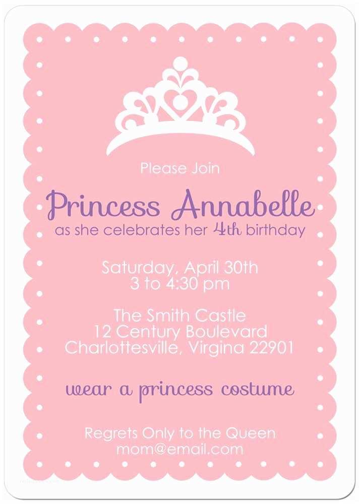 Princess Birthday Invitations Princess Party Invite Party Party Party