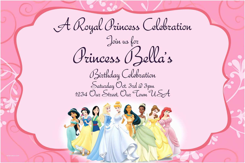 Princess Party Invitations 40th Birthday Ideas Disney