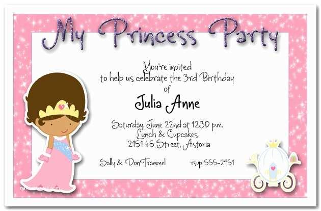 Princess Party Invitations Ethnic Princess Party Invitation Princess Birthday Party