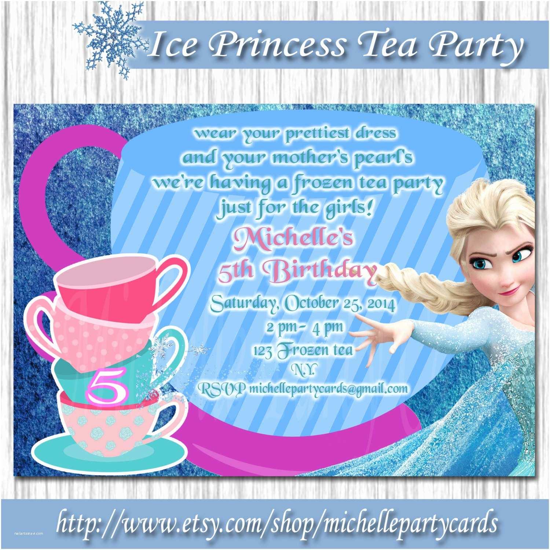 Princess Tea Party Invitations Ice Princess Tea Party Invitation Frozen by Michellepartycards