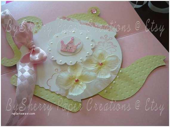 Princess Tea Party Invitations Items Similar to Boutique Custom Princess Tea Party