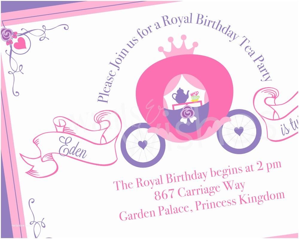 Princess Tea Party Invitations Princess Tea Party Invitations