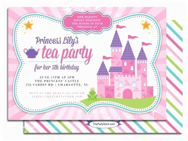 Princess Tea Party Invitations Tea Party Princess Invitation