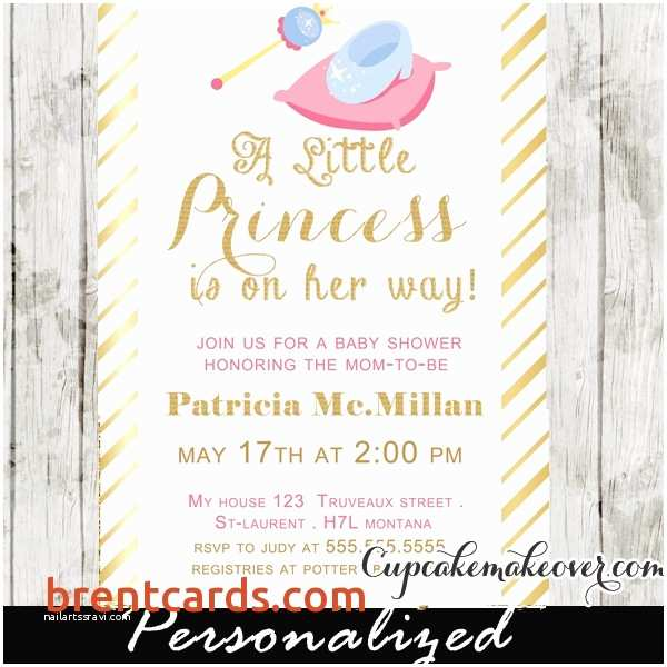 Princess theme Baby Shower Invitations How to Make Baby Shower Invitation Cards