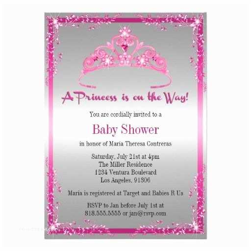 Princess theme Baby Shower Invitations Princess Baby Shower Invitation