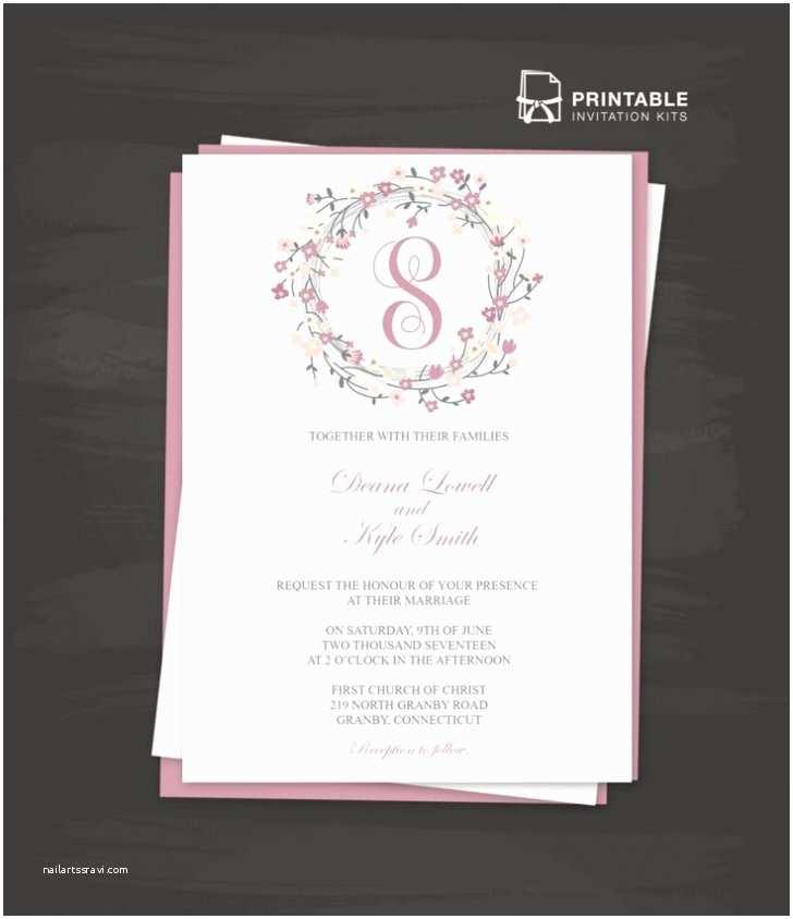 Print Your Own Wedding Invitations Kits Invitation Wedding Templates