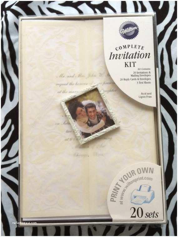 Print Your Own Wedding Invitations Kits Wilton Print Your Own Wedding Invitation Kit 20 Invitations