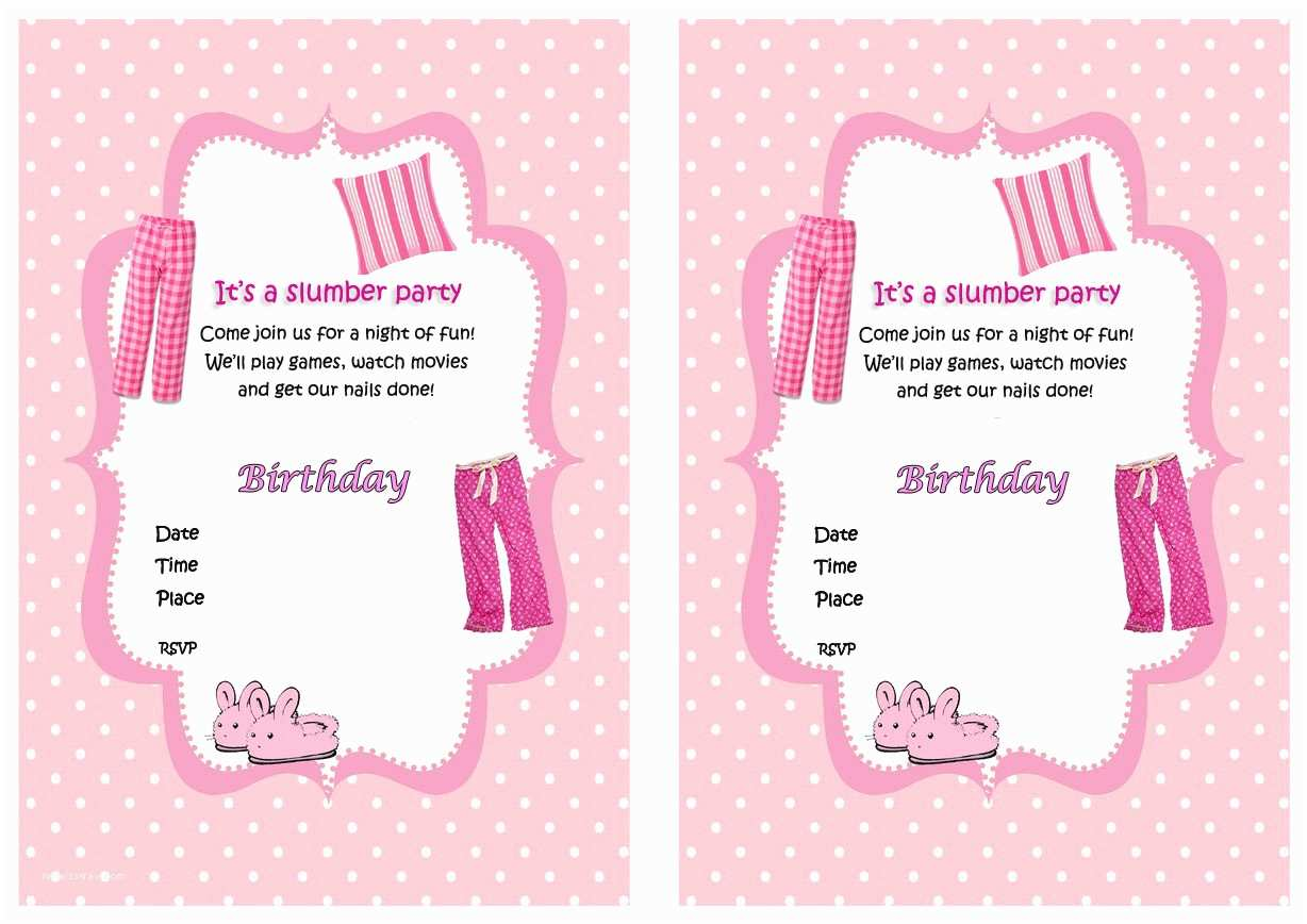 Printable Birthday Party Invitations 94 Free Printable Sleepover Birthday Party Invitations