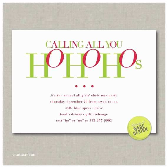 Printable Christmas Party Invitations Christmas Party for Your Girlfriends Invitation Digital