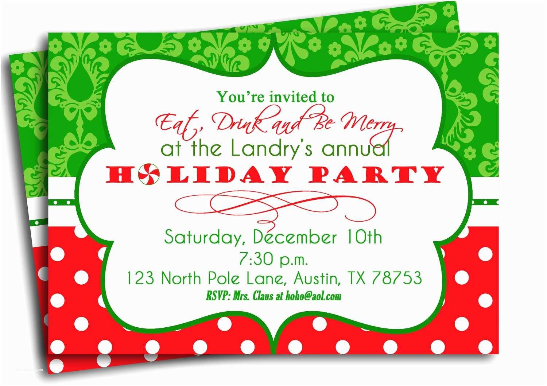 Printable Christmas Party Invitations Christmas Party Invitation Printable Traditional Holiday