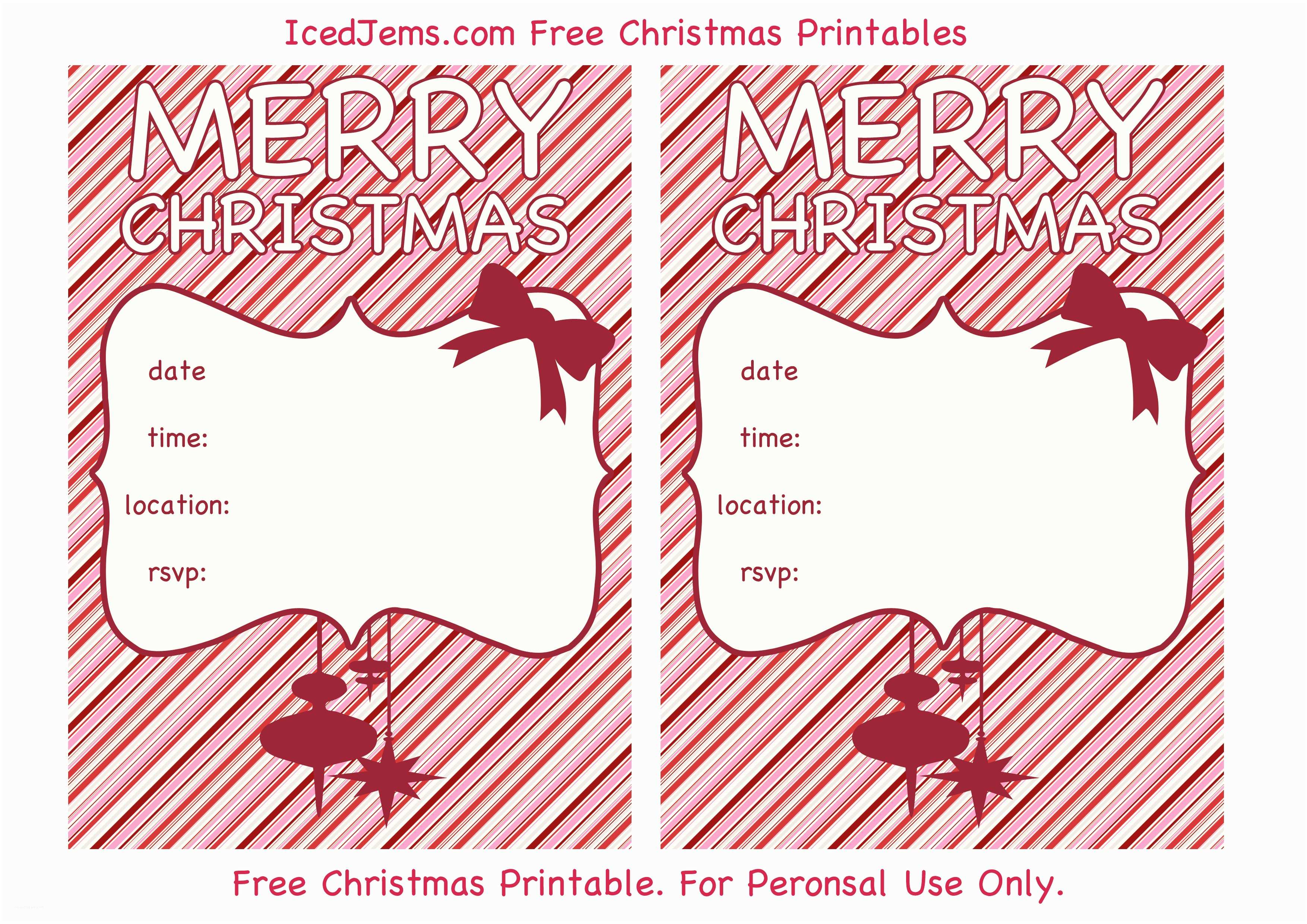 Printable Christmas Party Invitations Free Christmas Party Printables