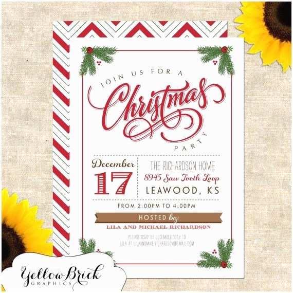 Printable Christmas Party Invitations Mistletoe Christmas Party Invitation Diy Printable