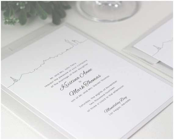 Printable Las Vegas Wedding Invitations 9 Best Las Vegas Wedding Invitations Images On Pinterest
