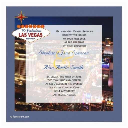 Printable Las Vegas Wedding Invitations Fabulous Las Vegas Wedding Invitation