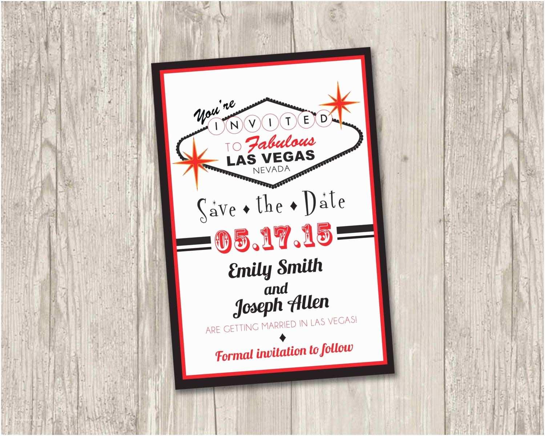 Printable Las Vegas Wedding Invitations Las Vegas Save the Date Printable Las by
