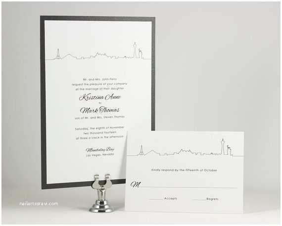 Printable Las Vegas Wedding Invitations Printable Wedding Invitations Las Vegas by Edenweddingstudio