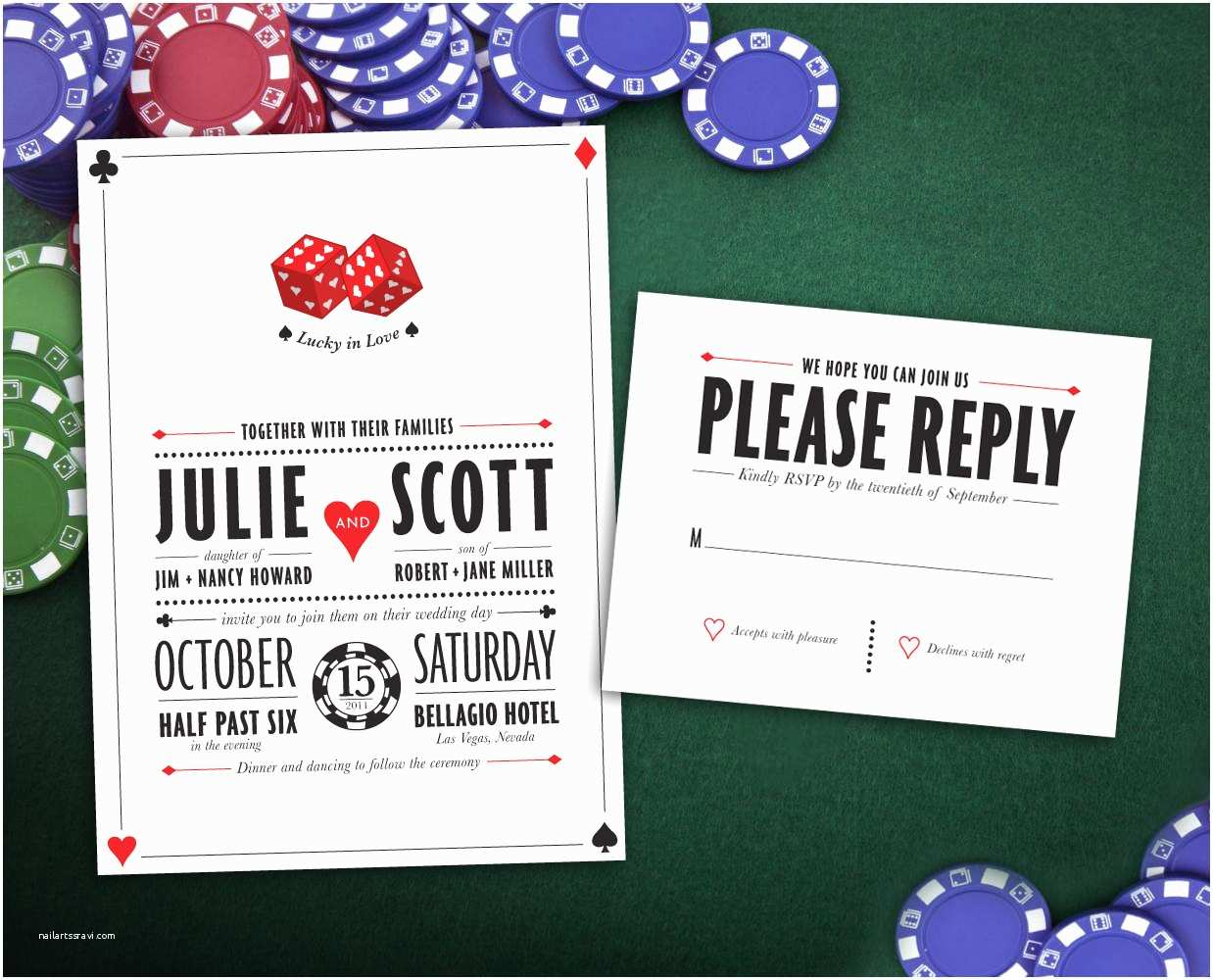 Printable Las Vegas Wedding Invitations top Las Vegas Wedding Invitations